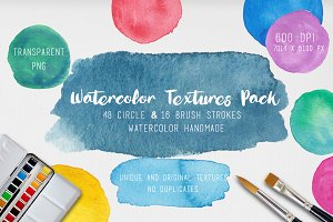 Watercolor Textures. 64 background