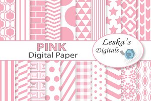 Pink Digital Paper - Light Pink