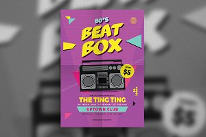 80s Beat Box Music Flyer