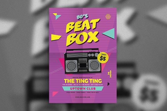 80s Beat Box Music Flyer