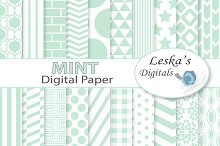 Mint Digital Paper - Mint Green
