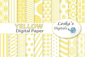 Yellow Digital Paper Pack