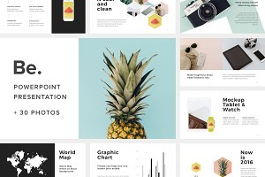 Be Powerpoint Template +30 Photos
