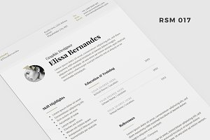 "Resume Template - ""The Elanoir"""