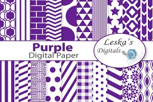 Purple Digital Paper
