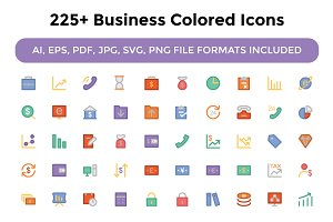 225+ Business Colored Icons