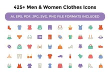 425+ Men and Women Clothes Icons