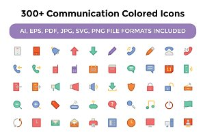 300+ Communication Colored Icons