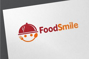 Food Smile Logo Template