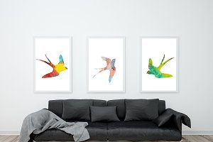Watercolor birds.