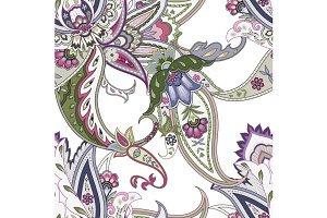 Fantasy Flowers Paisley Motif