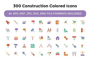 300 Construction Colored Icons