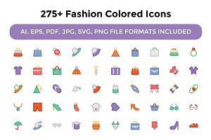 275+ Fashion Colored Icons