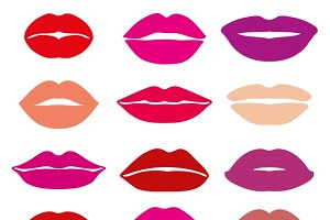 Womans lips with red lipstick