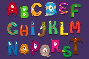 Funny alphabet for kids