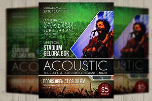 Acoustic Music Event Flyer/Poster