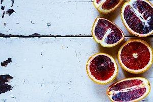 Blood oranges fruits