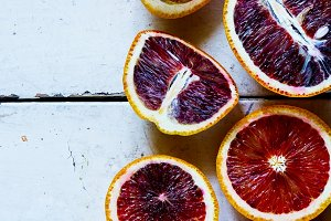 Blood oranges fruits