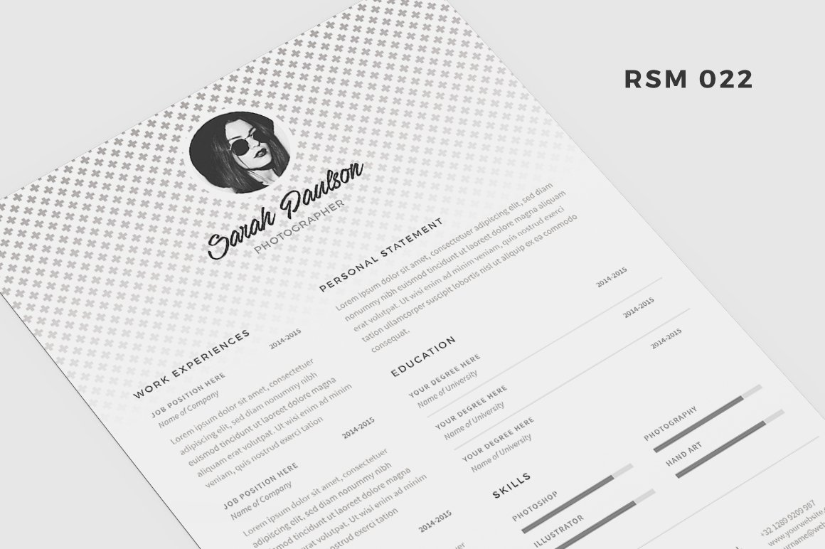 resume template polaris resume templates creative market
