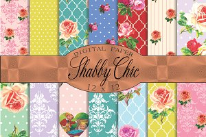 Shabby chic patterns, florals