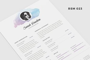 "Resume Template - ""Porrima"""