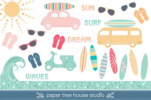 Surf Clip Art Set