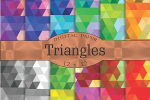 Triangles geometric patterns