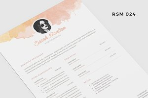 "Resume Template - ""Pastel Cloud"""