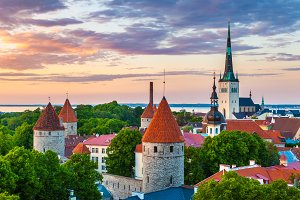 Cityscape of Tallinn, Estonia