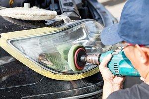 Car lamp polishing