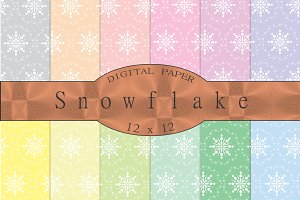 Snowflake seamless patterns