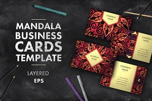 Mandala business card 010