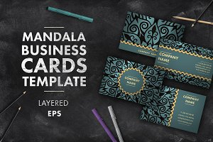 Mandala business card 011