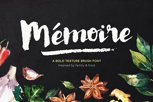 Memoire Brush Script + Extras