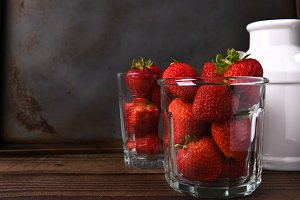 Glassful of Strawberries