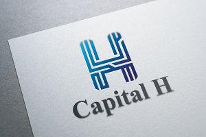Alphabet H Logo Template