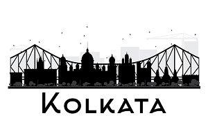 Kolkata City Skyline Silhouette