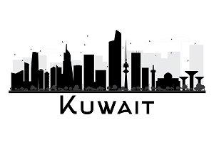 Kuwait City Skyline Silhouette