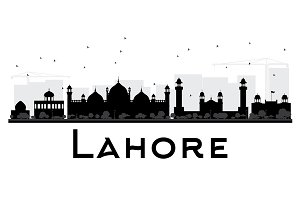 Lahore City Skyline Silhouette