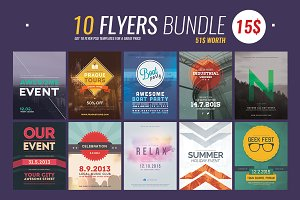 10 Flyer Templates Bundle