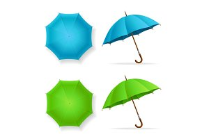 Umbrellas Set Top and Front View