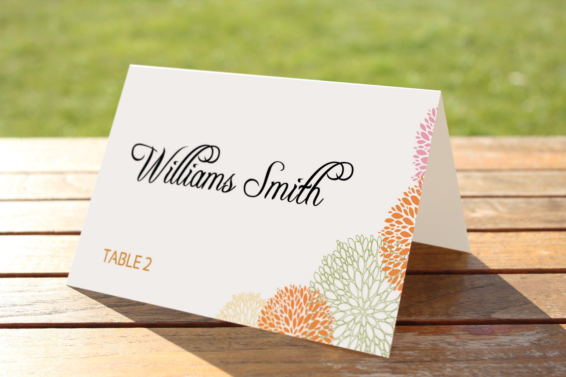 Wedding Place Card Template Templates Creative Market - Menu place cards template