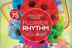 Flower Rhythm Flyer Template