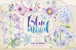 "Floral collection ""Blue mood"""