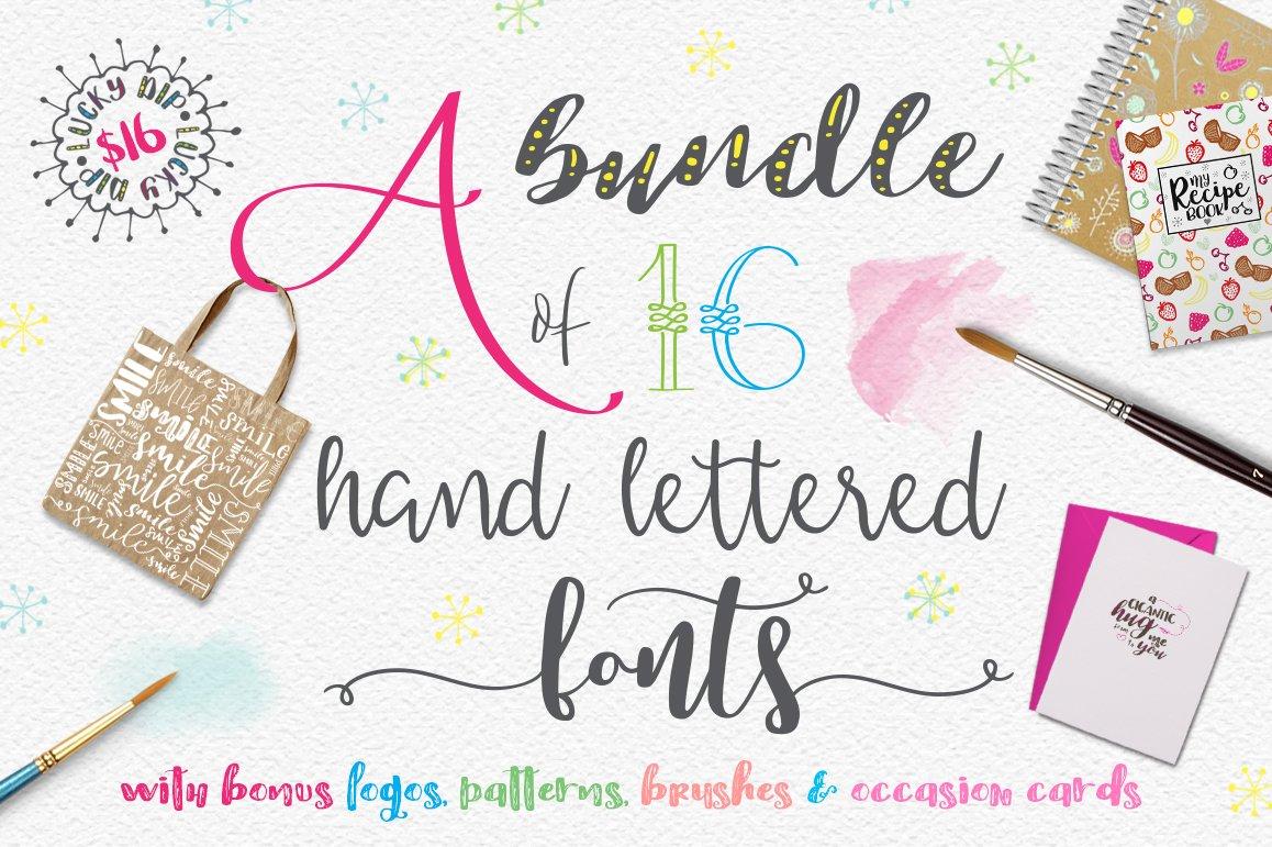 Handlettered font bundle script fonts creative market kristyandbryce Choice Image