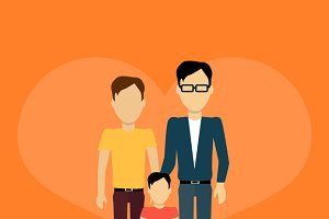Happy Family Concept Banner Design