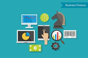 Business Finance Flat Design Vector