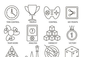 Business gamification icons