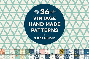 36 Vintage Hand Made Patterns Bundle