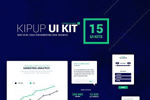 KipUp UI kit of 15 elements